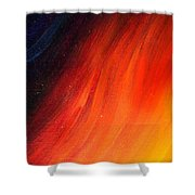 Black-red-yellow Abstract Shower Curtain