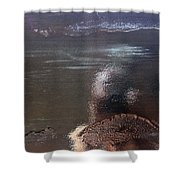 Black Revisited Shower Curtain