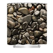 Black River Stones Portrait Shower Curtain by Steve Gadomski