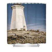 Black Rock Harbor Lighthouse II Shower Curtain