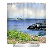 Black Rock Shower Curtain