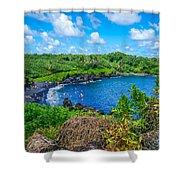 Black Sand Beach - Maui Hi Shower Curtain