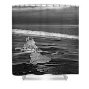Black Sand Beach Shower Curtain