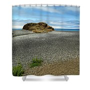 Black Sand Beach On The Lost Coast Shower Curtain