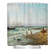 Black Sea Coast Shower Curtain