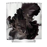 Black Smoke Shower Curtain