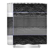 Black Square Shower Curtain