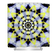 Black, White And Yellow Sunflower Shower Curtain