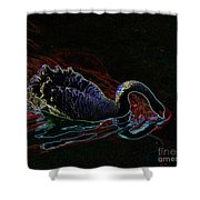 Black Swan In Color Shower Curtain