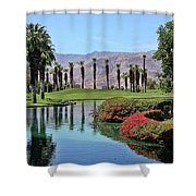Black Swan In Palm Springs Shower Curtain