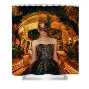 Black Swan Stroll Shower Curtain
