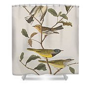Black Throated Green Warbler Blackburnian Mourning Warbler Shower Curtain