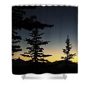 Black Tusk Sunset Shower Curtain