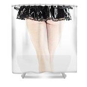 Black Tutu Shower Curtain