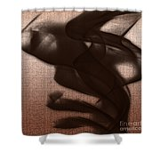 Black Vector Apparition Shower Curtain