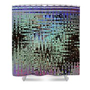 Black Walnut Ink Tepary Bean Abstract Shower Curtain