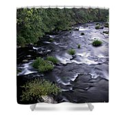 Black Waters Shower Curtain