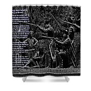 Black When Haitians Were Heroes In America Series Print No. 2 With Text Shower Curtain