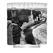 Black White Colorado River  Shower Curtain