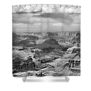 Black White Filter Grand Canyon  Shower Curtain