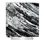 Black White Modern Art Shower Curtain