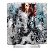 Black Widow Scarlett Johansson Shower Curtain