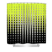 Black Yellow White With Abstract Action Shower Curtain
