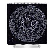 Black Zen 2 Shower Curtain