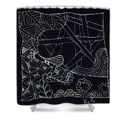 Black Zen 4 Shower Curtain