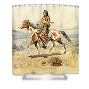 Blackfoot Indian. A Crow Scout Shower Curtain