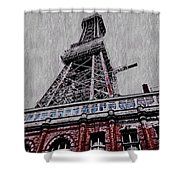 Blackpool Tower Shower Curtain