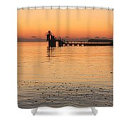 Blackrock Sunset Shower Curtain