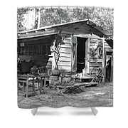 Blacksmith And Tool Shed Shower Curtain