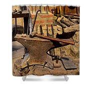Blacksmith - Anvil And Hammer Shower Curtain