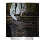 Blacksmith At Work Shower Curtain