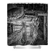 Blacksmith Bench Shower Curtain