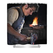 Blacksmith - Pioneer Village Shower Curtain
