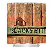 Blacksmith Sign Shower Curtain