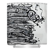 Blacksparkledance Shower Curtain