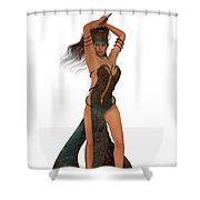 Blackthorn Rose Warrior Shower Curtain