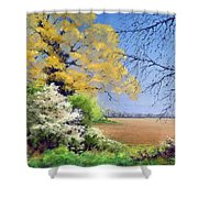 Blackthorn Winter Shower Curtain