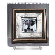 Blacktree Framed Shower Curtain