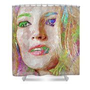 Blake Lively Watercolor Shower Curtain