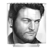 Blake Shelton Shower Curtain
