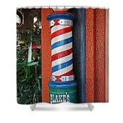 Blake's Barbershop Pole Vector I Shower Curtain