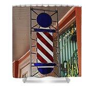 Blake's Barbershop Pole Vector II Shower Curtain