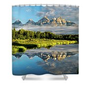 Blame It On The Tetons Shower Curtain