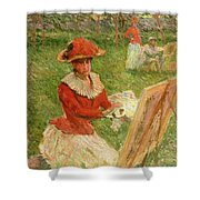 Blanche Hoschede Painting Shower Curtain