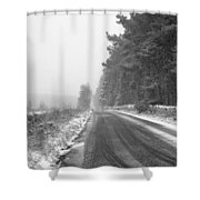 Blanchland Road In Winter, Slaley Woods Shower Curtain