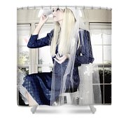 Blanco Beauty Shower Curtain